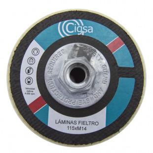 DISCO DE LAMINAS FIELTRO BLANCO M14 D-115 CIGSA